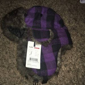 Winter warm aviator hat with tags